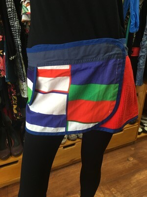 Upcycled Wrap-Around Festival Skirt - Size M