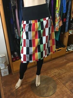 Retro Modern Check Skirt - Size M
