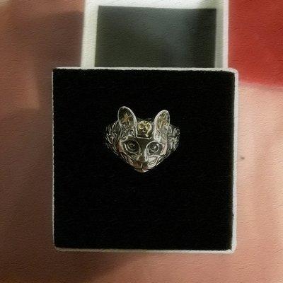 Gothic Cat Ring