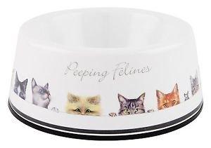 Peeping Felines Cat Bowl