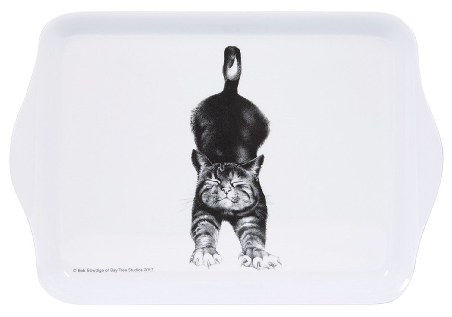 Cat Stretching Sandwich Tray