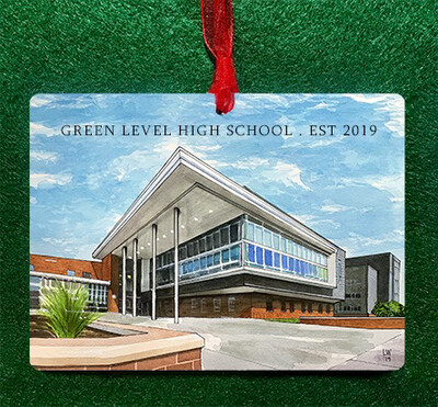 Apex, NC - Green Level High School Ornament