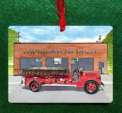 Apex, NC - Old Apex Firetruck Ornament
