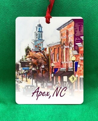 Apex, NC - Steeple Ornament