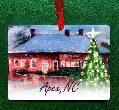 "Apex, NC - Chamber Christmas - 4.5""x3.5"" - Ornament"