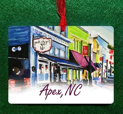 Apex, NC - Peak City Grill Ornament