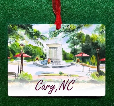 Cary, NC - Fountain Ornament