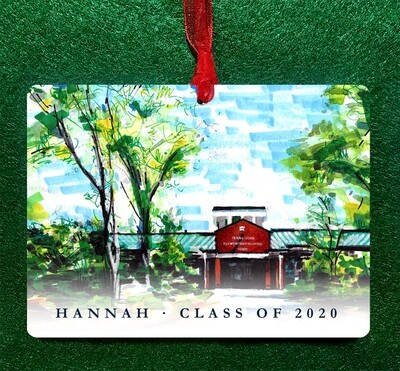 Cary, NC - Penny Road Elementary School Ornament PERSONALIZED