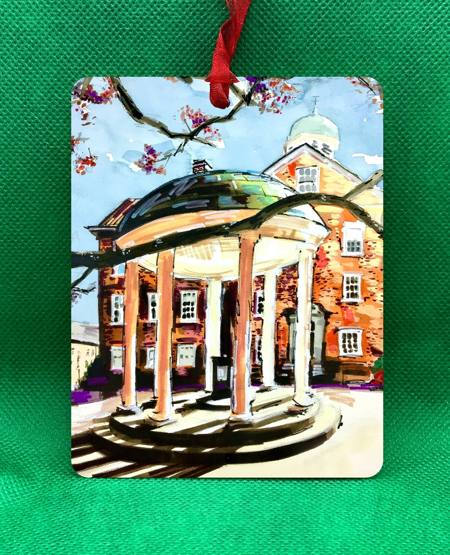 "Chapel Hill, NC - UNC - Old Well - 4.5""x3.5"" - Ornament"