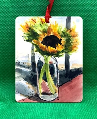 Custom - Sunflowers Ornament