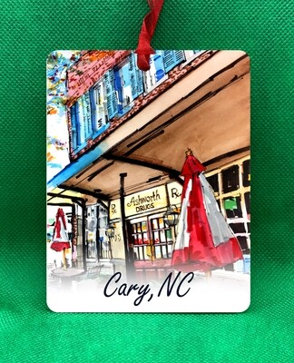 Cary, NC - Ashworth Drugs Ornament