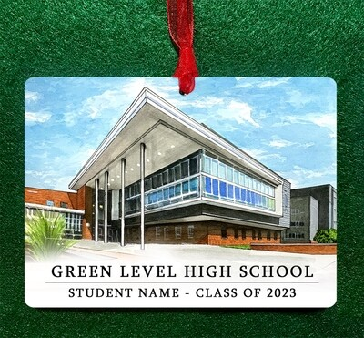 Apex, NC - Green Level High School Ornament PERSONALIZED