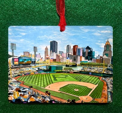 "Pittsburgh, PA - PNC Park - 4.5""x3.5"" - Ornament"