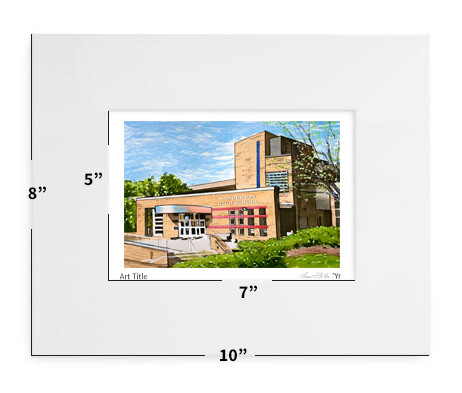 "Raleigh, NC - Sanderson High School - 8""x10"" - Matted Print"