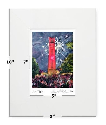 """Raleigh, NC - NC State - Bell Tower """"Light It Up"""" - 8"""