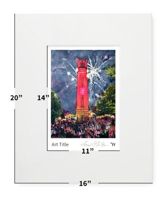 """Raleigh, NC - NC State - Bell Tower """"Light it Up"""" - 16"""
