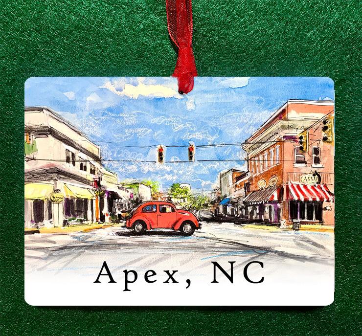 "Apex, NC - Buddy - 4.5""x3.5"" - Ornament"