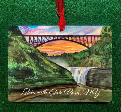 Letchworth State Park - Upper Falls - Ornament