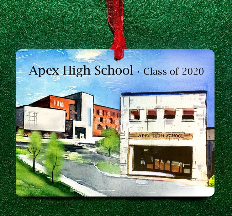 "Apex, NC - Apex High School Collage - 4.5""x3.5"" - Ornament"