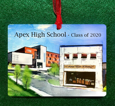 "Apex, NC - Apex High School Collage - 4.5""x3.5"" - Ornament"