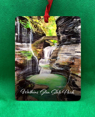 Watkins Glen State Park - Chase Waterfalls - Ornament