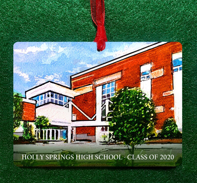 Holly Springs , NC - Holly Springs High School Personalized Ornament