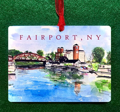 Fairport, NY - Hey Fairport Ornament