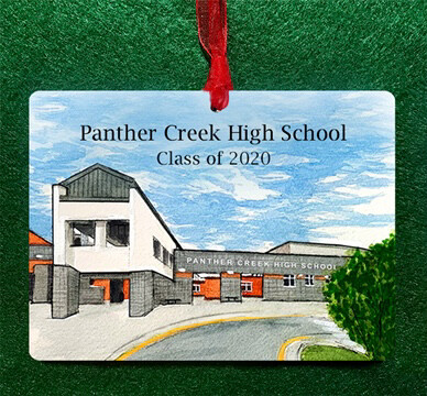 Cary, NC - Panther Creek High School Personalized Ornament