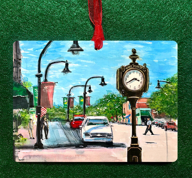 "Wake Forest, NC - Hey Wake Forest! - 4.5""x3.5"" - Ornament"