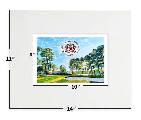 """Cary, NC - MacGregor Downs Country Club - 11""""x14"""" - Matted Print"""