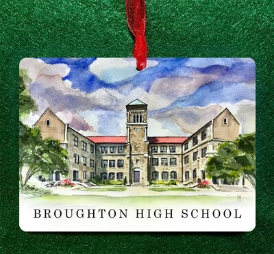 Raleigh, NC - Broughton High School Non-Personalized Ornament