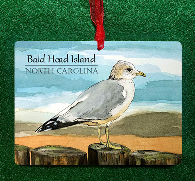 Ringed Bill Seagull Ornament PERSONALIZED