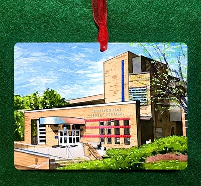 Raleigh, NC - Sanderson High School Non-Personalized Ornament