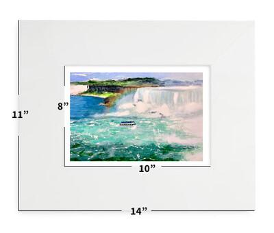 "Niagara Falls, NY- Maid of the Mist - 11""x14"" - Matted Print"