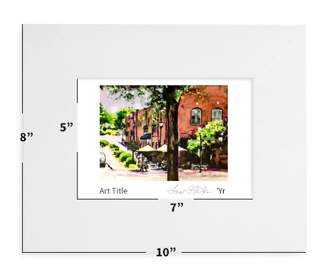 """Holly Springs, NC - Hey Holly Springs! - 8""""x10"""" - Matted Print"""