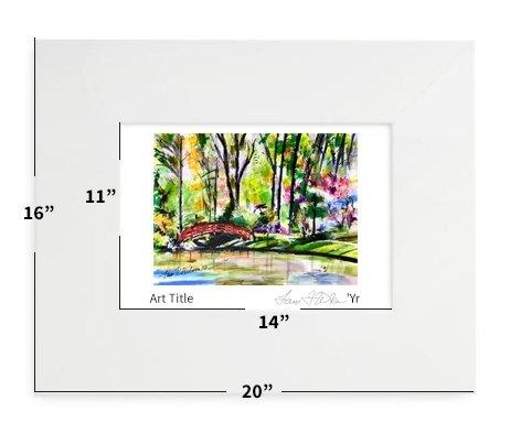 "Durham, NC - Duke University - Asiatic Garden - 16""x20"" - Matted Print"