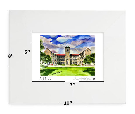 """Raleigh, NC - Broughton High School - 8""""x10"""" - Matted Print"""