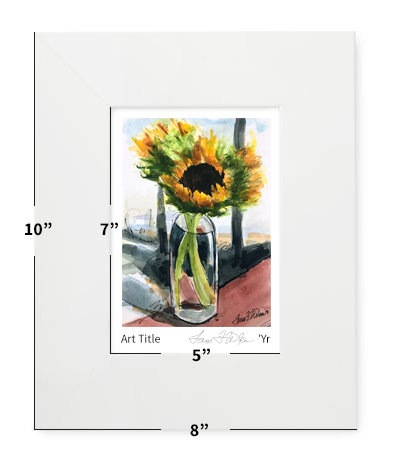 """Flowers - Winter Sunflowers - 8""""x10"""" - Matted Print"""