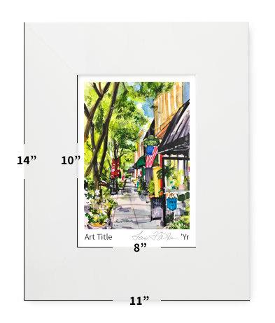 "Fuquay-Varina, NC - Fuquay-Varina! - 11""x14"" - Matted Print"