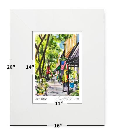 "Fuquay-Varina, NC - Fuquay-Varina! - 16""x20"" - Matted Print"