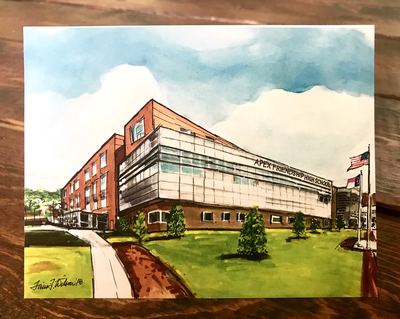 "Apex, NC - Apex Friendship High School -  5.5"" x 4.25"" - Notecards"
