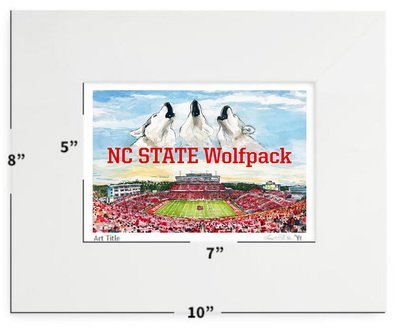 Raleigh, NC - NC State - Carter-Finley Stadium - Matted Print - 8