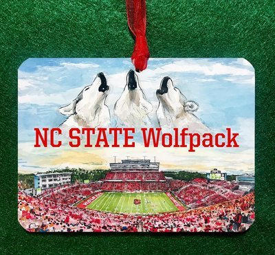 Raleigh, NC - NC State - Carter-Finley Stadium Ornament
