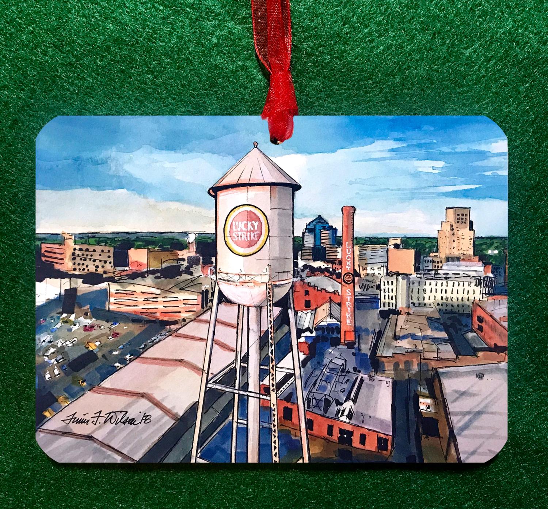 "Durham, NC - Lucky Strike - 4.5""x3.5"" - Ornament"