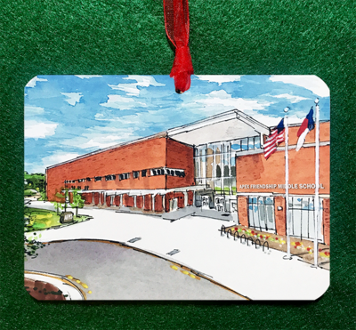 Apex, NC - Apex Friendship Middle School Non-Personalized Ornament