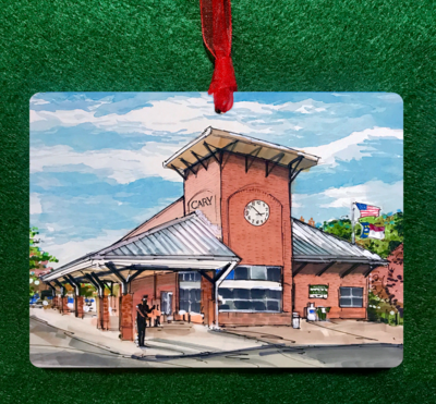 Cary, NC - Cary Train Depot Ornament