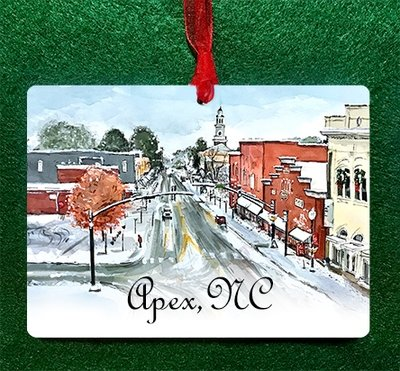 Apex, NC - Snowy Day Ornament