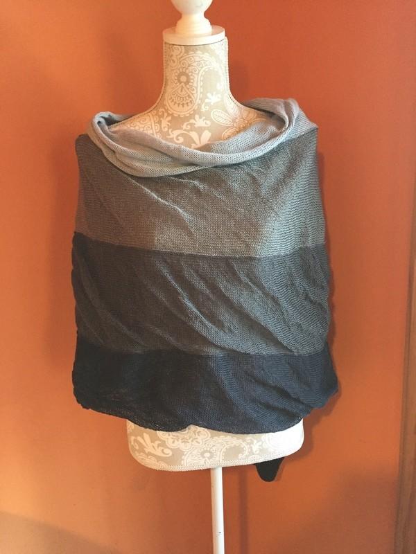 Poncho Dress Greys Cotton