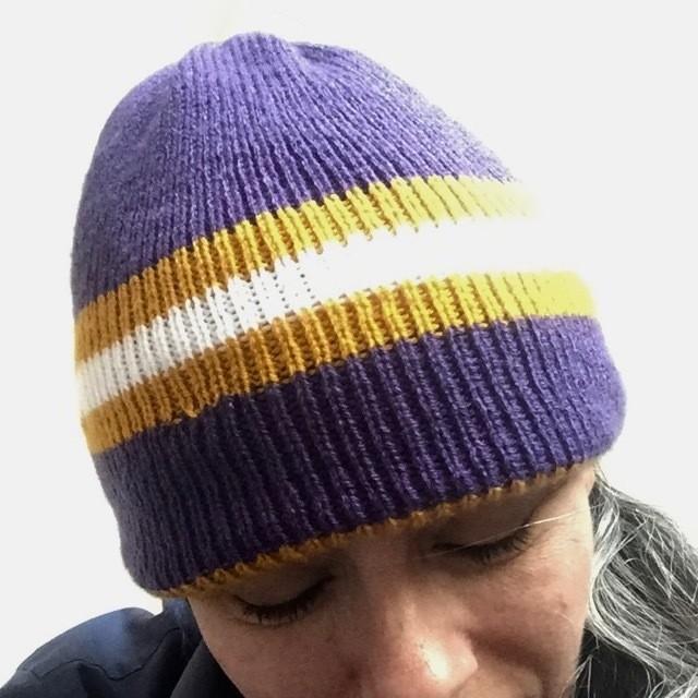 CSM Pattern Bumblebee: Home & Away Reversible Hat Knitting pattern