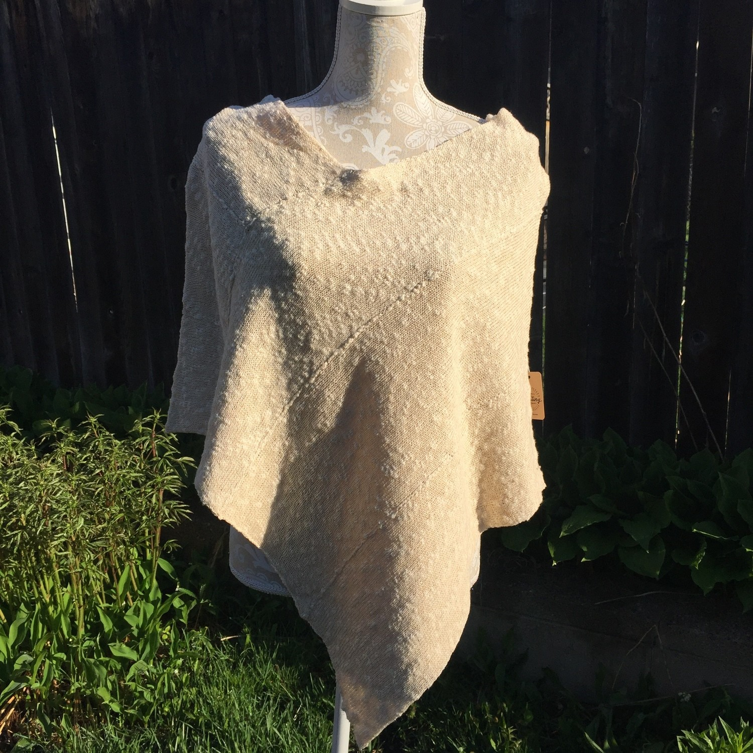 Ivory Cotton Poncho